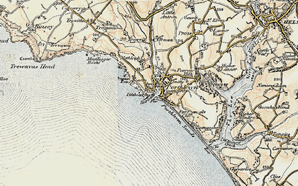 Old map of Porthleven in 1900