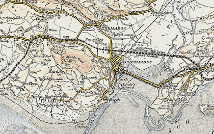 Old map of Porthmadog in 1903