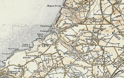 Old map of Porthtowan in 1900