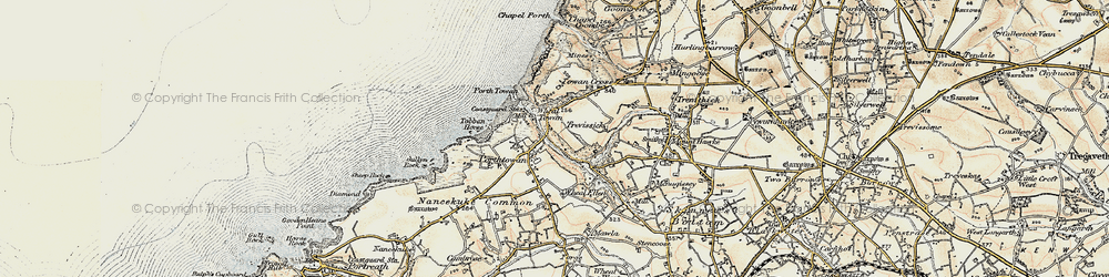 Old map of Tobban Horse in 1900