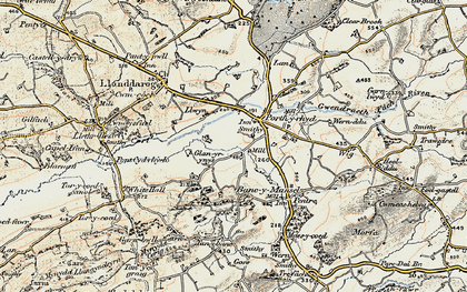 Old map of Lanfawr in 1900-1901