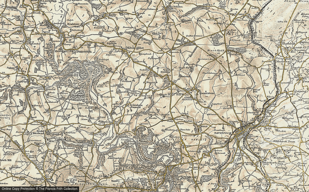 Old Map of Historic Map covering Wonwood in 1899-1900