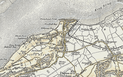Old map of Portishead in 1899-1900