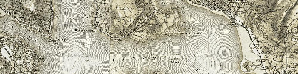 Old map of Lindowan Resr in 1905-1907