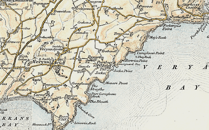 Old map of Portloe in 1900