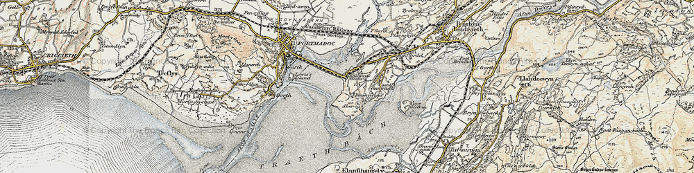 Old map of Portmeirion in 1903