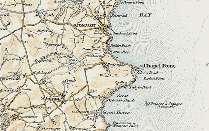 Old map of Portmellon in 1900