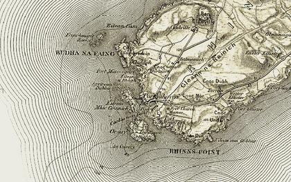 Old map of Wester Ellister in 1906