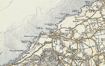 Old map of Portreath in 1900