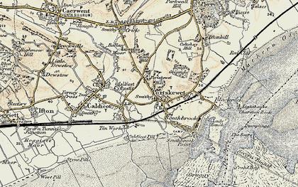 Old map of Portskewett in 1899
