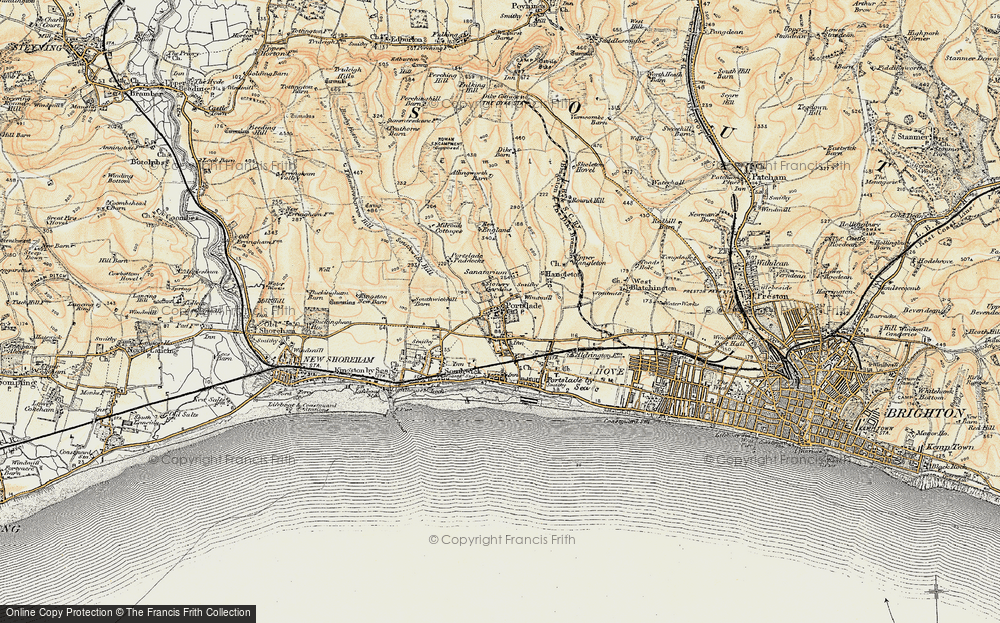 Old Map of Portslade, 1898 in 1898
