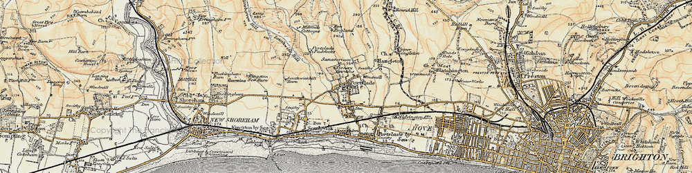 Old map of Portslade in 1898