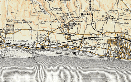 Old map of Portslade-By-Sea in 1898
