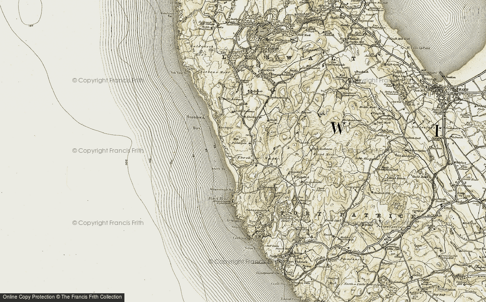 Old Map of Historic Map covering Larbrax Moor in 1905