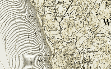 Old map of Larbrax Moor in 1905