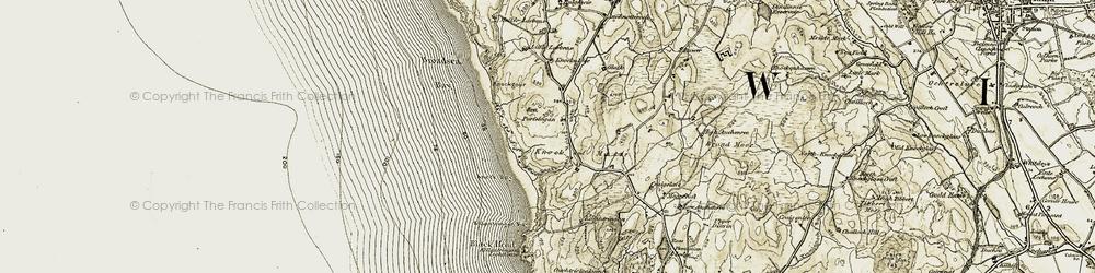 Old map of Larbrax in 1905