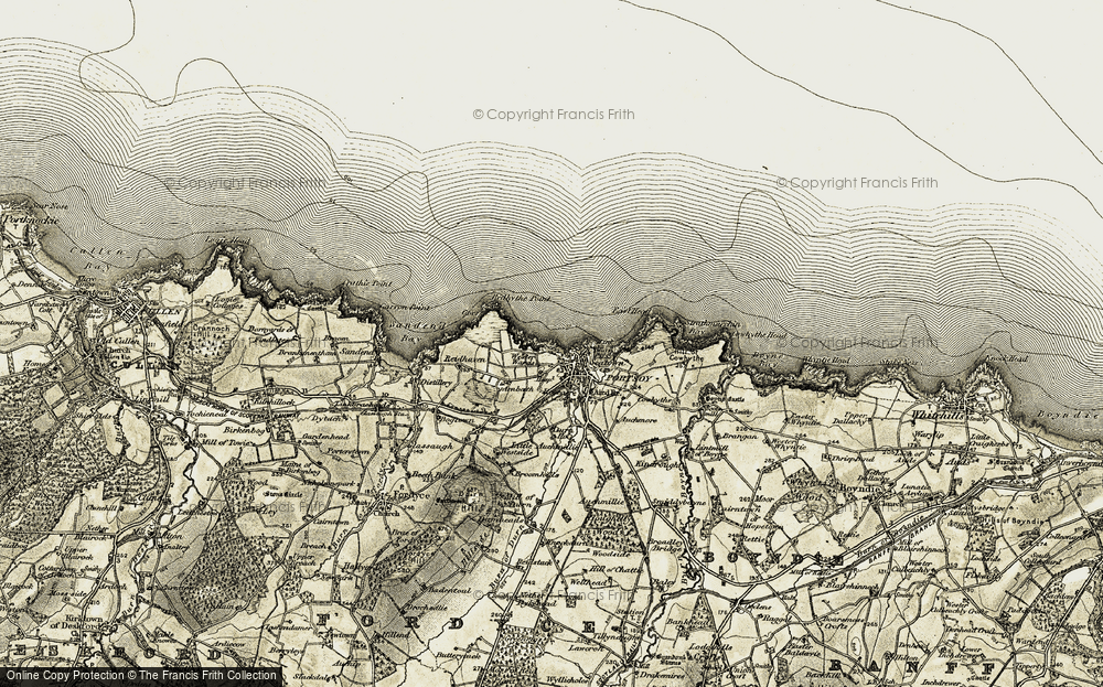 Old Map of Historic Map covering Àird Br in 1910