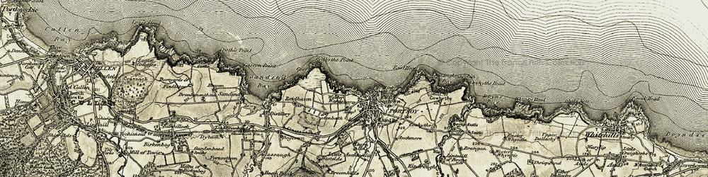 Old map of Westside in 1910