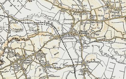 Old map of Portway in 1898-1900