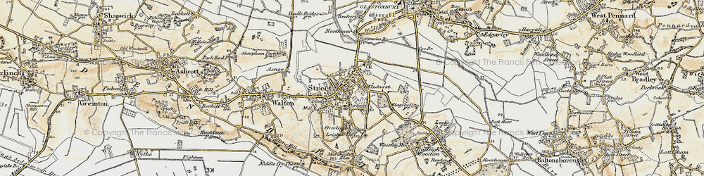 Old map of Pomparles Br in 1898-1900