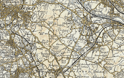 Old map of Portway in 1902