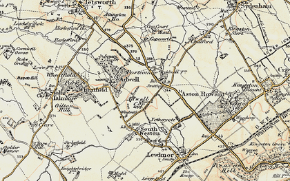 Old map of Adwell Cop in 1897-1898