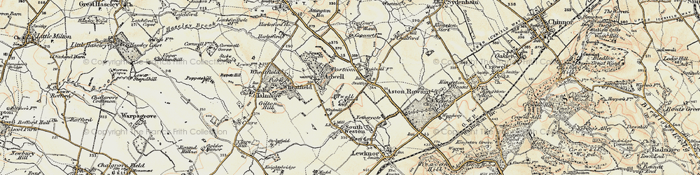 Old map of Adwell Cop (Mound) in 1897-1898