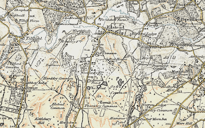 Old map of Bagmoor Common in 1897-1909