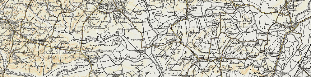 Old map of Wet Level in 1898