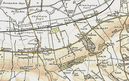 Old map of Allison Wold Fm in 1903-1904