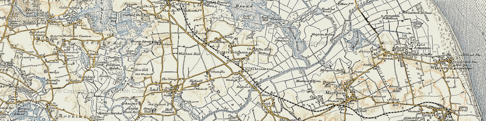 Old map of Potter Heigham in 1901-1902