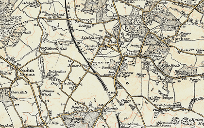Old map of Potters Bar in 1897-1898