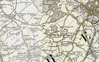 Old map of Potters Crouch in 1897-1898