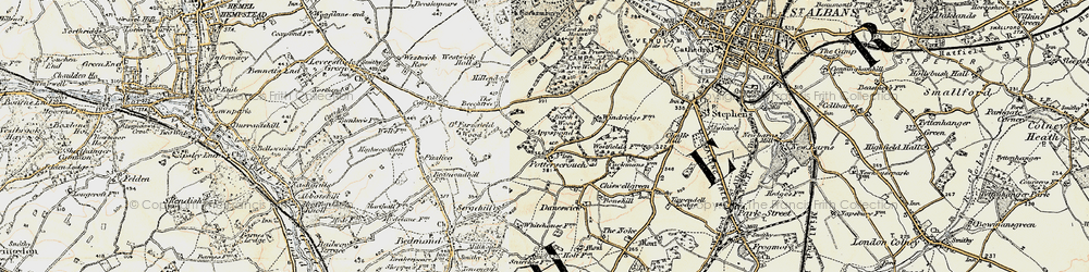 Old map of Appspond in 1897-1898