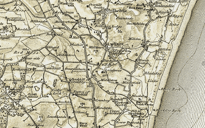 Old map of Wester Hatton in 1909-1910
