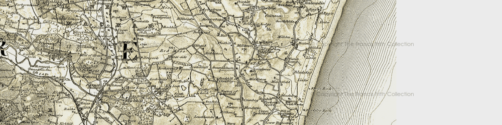 Old map of Lily Loch in 1909-1910