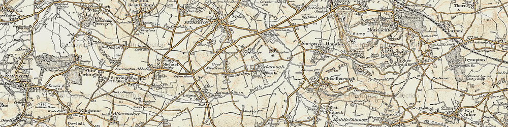 Old map of Wigborough Manor in 1898-1900