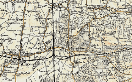 Old map of Pound Hill in 1898-1902