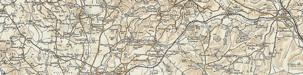 Old map of Whetley in 1899