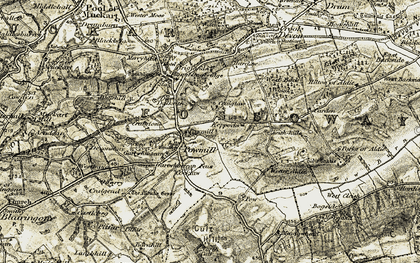Old map of Wester Aldie in 1904-1908