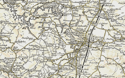 Old map of Lindow Common in 1902-1903