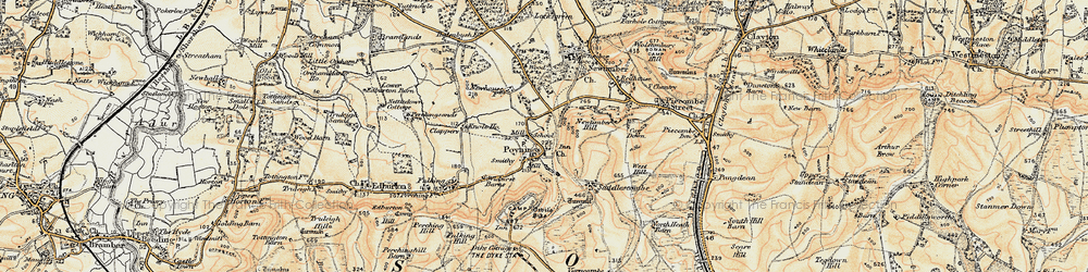 Old map of Poynings in 1898