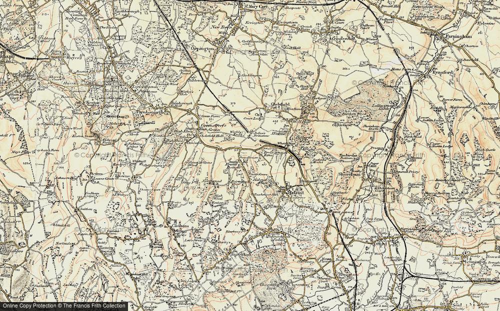 Old Map of Pratt's Bottom, 1897-1902 in 1897-1902