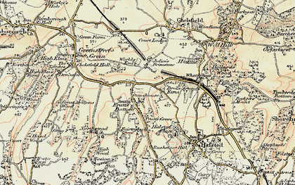 Old map of Pratt's Bottom in 1897-1902