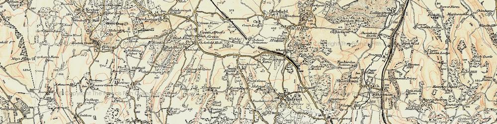 Old map of Pratt's Bottom in 1897-1902