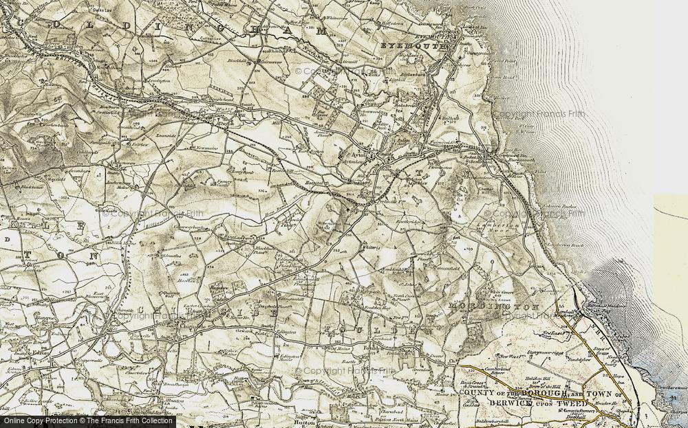 Old Map of Prenderguest, 1901-1903 in 1901-1903