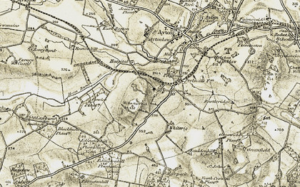 Old map of Aytonlaw in 1901-1903