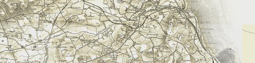 Old map of Westmains Moor in 1901-1903