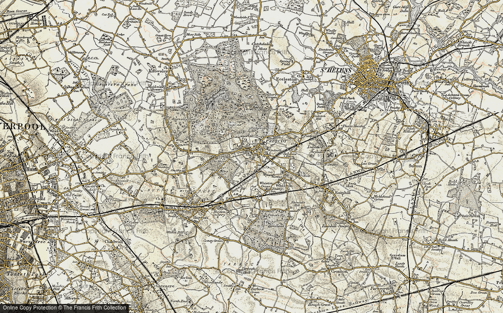 Old Map of Prescot, 1902-1903 in 1902-1903