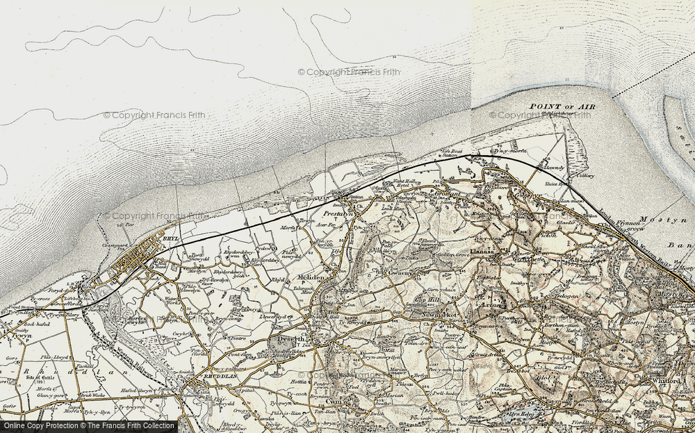Old Map of Prestatyn, 1902-1903 in 1902-1903